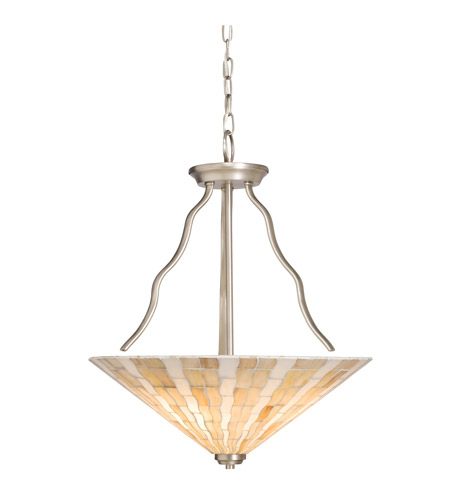 Kichler Lighting Modern Mosaic 3 Light Inverted Pendant in Antique Pewter 65352 photo