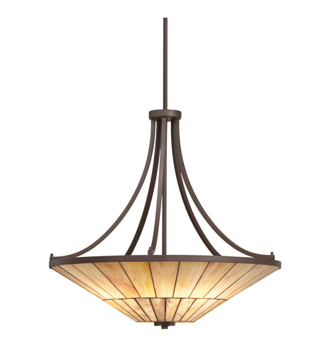 Kichler Lighting Morton 4 Light Inverted Pendant in Olde Bronze 65355 photo