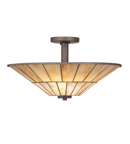 Kichler Lighting Morton 3 Light Semi-Flush in Olde Bronze 65356 photo