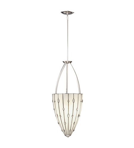 Kichler Lighting Cloudburst 3 Light Inverted Pendant in Polished Nickel 65357