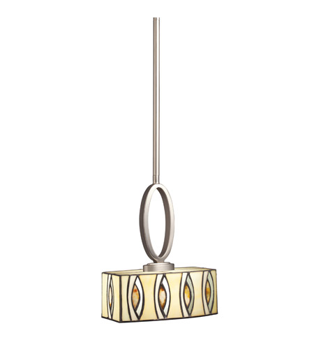 Kichler Lighting Signature 1 Light Mini Pendant in Brushed Nickel 65361