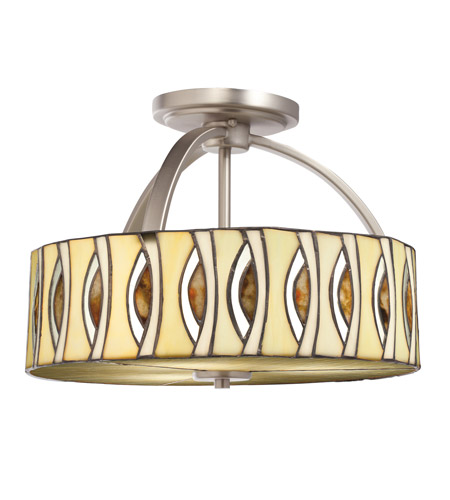 Kichler Lighting Signature 3 Light Semi-Flush in Brushed Nickel 65362 photo