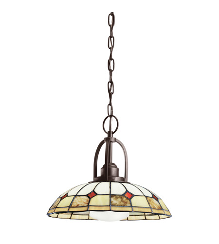 Kichler Lighting Deveron 1 Light Semi-Flush Mount in Olde Bronze 65367
