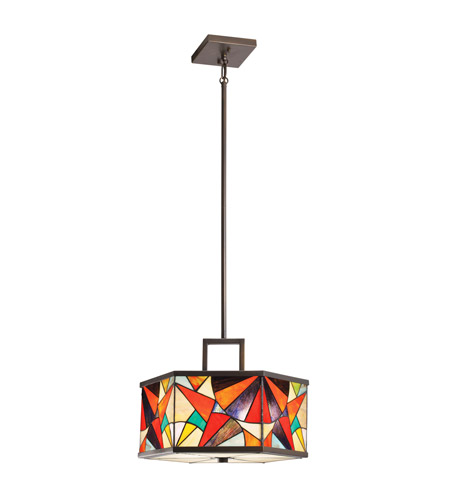 Kichler Lighting Carnival 3 Light Inverted Pendant in Olde Bronze 65369
