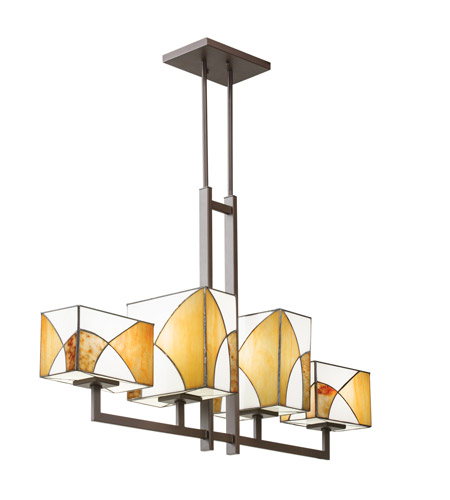 Kichler Lighting Elias 4 Light Single Linear Chandelier in Olde Bronze 65373 photo