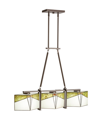 Kichler Lighting Bayberry 3 Light Single Linear Chandelier in Olde Bronze 65378