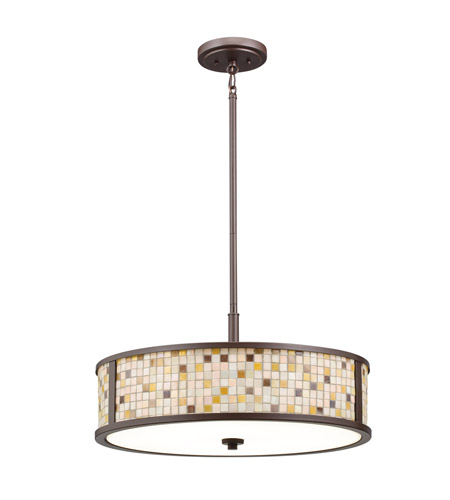 Kichler Lighting Blythe 5 Light Convertible Pendant in Olde Bronze 65381 photo