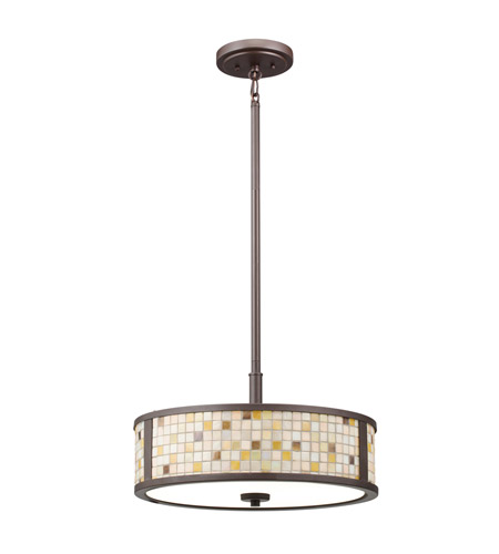 Kichler Lighting Blythe 3 Light Convertible Pendant in Olde Bronze 65382