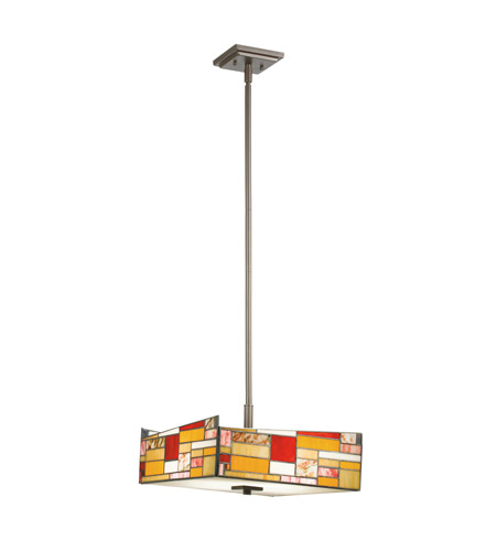 Kichler Lighting Shindy 4 Light Convertible Pendant in Olde Bronze 65384