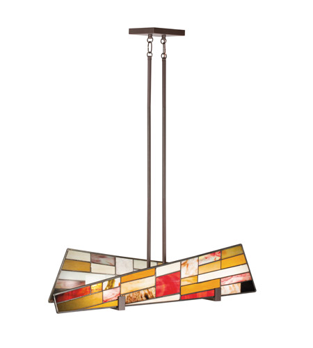 Kichler Lighting Shindy 4 Light Single Linear Chandelier in Olde Bronze 65385