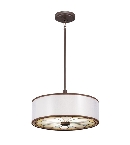 Kichler Lighting Louisa 3 Light Convertible Pendant in Olde Bronze 65388