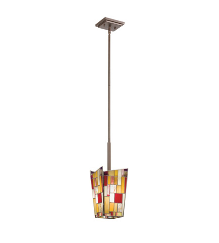 Kichler Lighting Shindy 1 Light Mini Pendant in Olde Bronze 65390