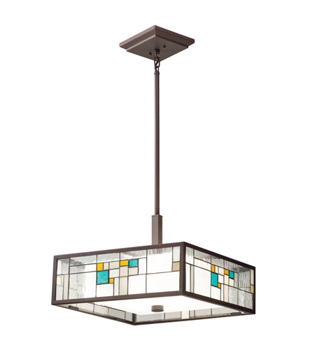 Kichler Lighting Caywood 4 Light Pendant in Olde Bronze 65392