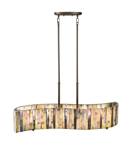 Kichler Lighting Marisa 5 Light Single Linear Chandelier in Shadow Bronze 65397 photo