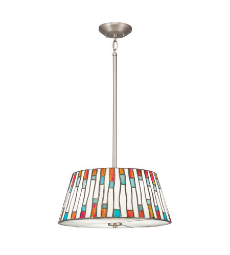 Kichler Lighting Carlisle 3 Light Convertible Pendant in Brushed Nickel 65400