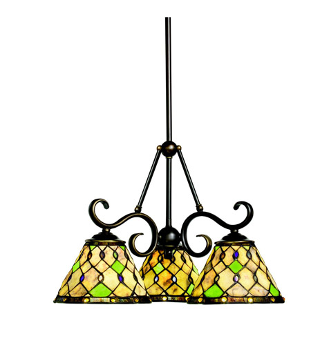 Kichler Lighting Woodbury 3 Light Chandelier in Oiled Bronze 66045 photo