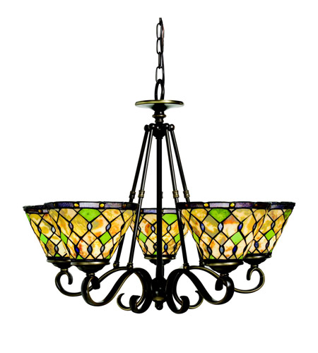 Kichler Lighting Woodbury 5 Light Chandelier in Oiled Bronze 66046 photo