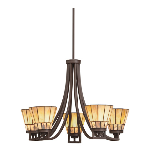 Kichler Lighting Morton 5 Light Chandelier in Olde Bronze 66054 photo