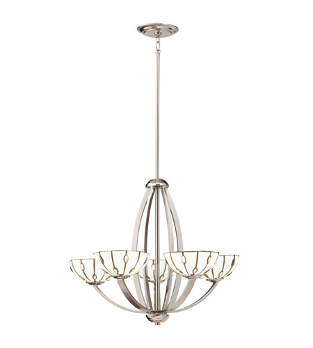 Kichler Lighting Cloudburst 5 Light Chandelier in Polished Nickel 66057