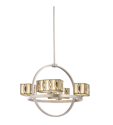 Kichler Lighting Pluto 4 Light Chandelier in Brushed Nickel 66060 photo
