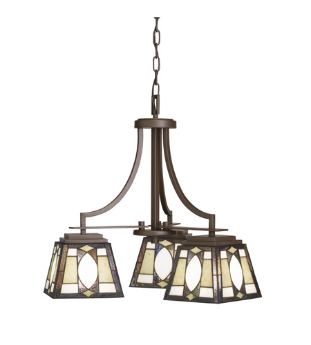 Kichler Lighting Denman 3 Light Chandelier in Olde Bronze 66121 photo