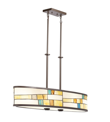 Kichler Lighting Mihaela 4 Light Chandelier in Shadow Bronze 66144