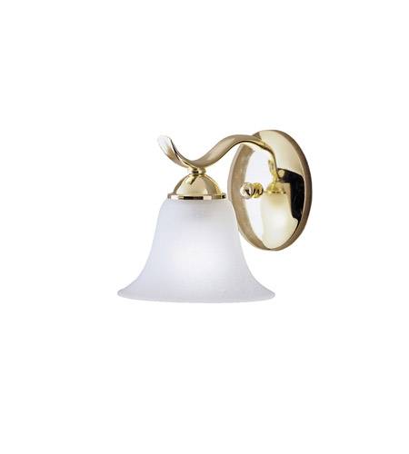 Kichler Lighting Dover 1 Light Wall Sconce in Polished Brass 6719PB