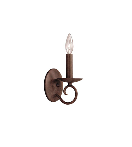 Kichler Lighting Norwich 1 Light Wall Sconce in Tannery Bronze 6813TZ