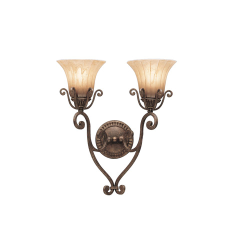Kichler Lighting Cottage Grove 2 Light Wall Sconce in Carre Bronze 6858CZ