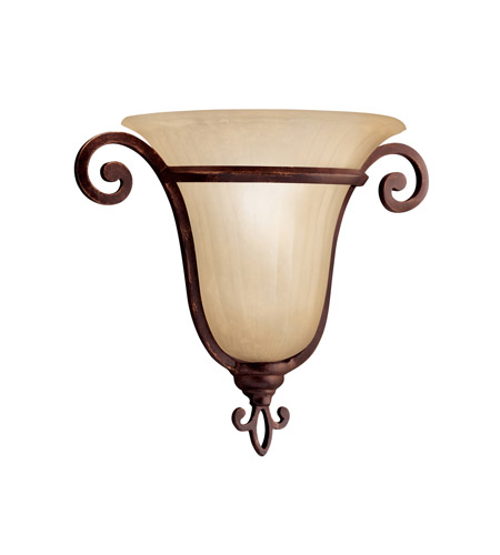 Kichler Lighting Wilton 1 Light Wall Sconce in Carre Bronze 6894CZ photo
