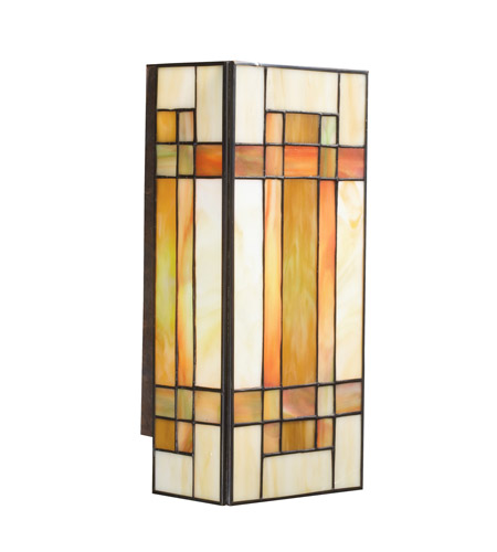 Kichler Lighting Art Glass 2 Light Wall Sconce in Patina Bronze 69004