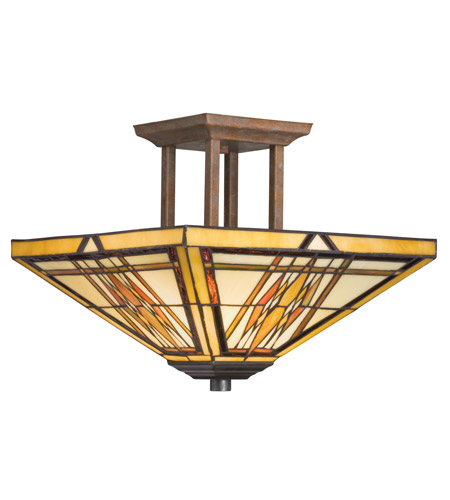 Kichler Lighting Steveston 2 Light Semi-Flush in Dore Bronze 69010