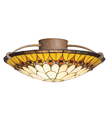 Kichler Lighting Artaxerxes 3 Light Semi-Flush in Dore Bronze 69017