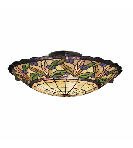 Kichler Lighting Secret Garden 3 Light Semi-Flush in Bronze 69038 photo
