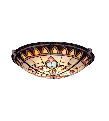 Kichler Lighting Art Glass 3 Light Semi-Flush in Bronze 69041
