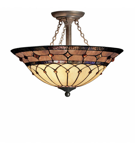 Kichler Lighting Dunsmuir 3 Light Semi-Flush in Bronze 69048 photo
