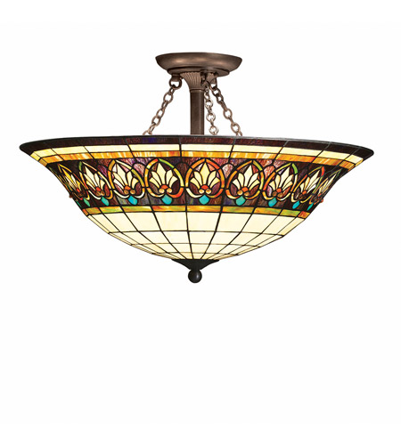 Kichler Lighting Provencia 3 Light Semi-Flush in Bronze 69050