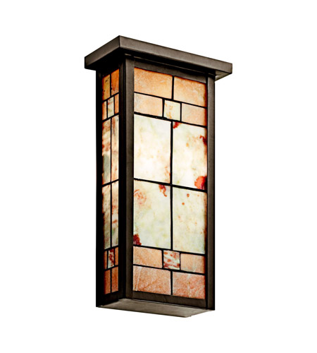 Kichler Lighting Prairie Ridge 2 Light Wall Sconce in Olde Bronze 69116