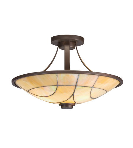 Kichler Lighting Spyro 2 Light Semi-Flush in Olde Bronze 69125 photo