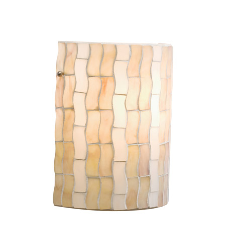 Kichler Lighting Modern Mosaic 1 Light Wall Sconce in Antique Pewter 69150 photo