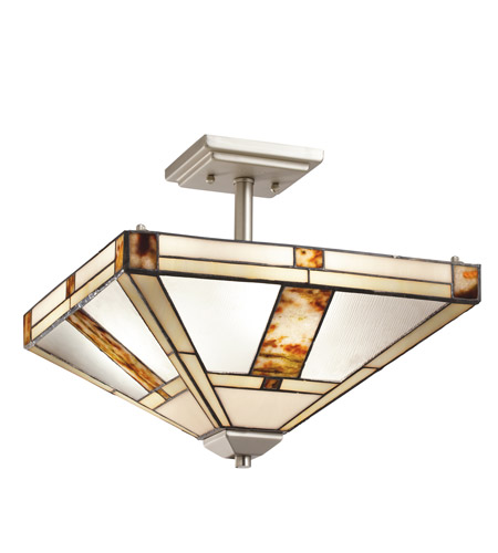 Kichler Lighting Bryce 3 Light Semi-Flush Mount in Brushed Nickel 69164