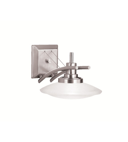 Kichler 6963NI Structures 1 Light 9 inch Brushed Nickel Wall Sconce Wall Light photo