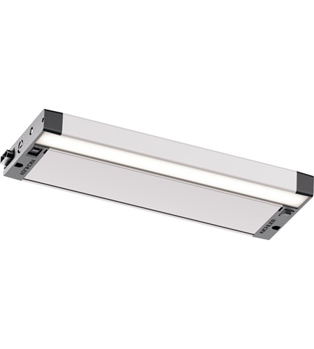 6u Series Led 12 Inch Nickel Textured Under Cabinet Lighting In 12in