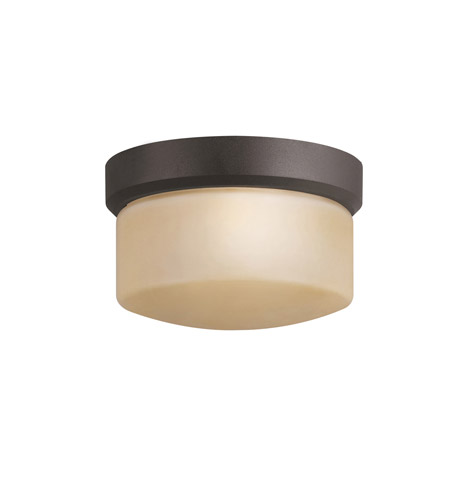 Kichler Lighting Lantana 1 Light Outdoor Flush Mount in Architectural Bronze 7002AZ