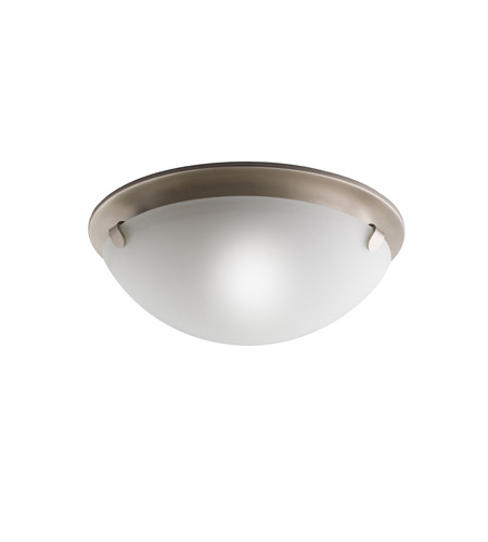 Kichler Lighting Signature 2 Light Flush Mount in Brushed Nickel 7003NI
