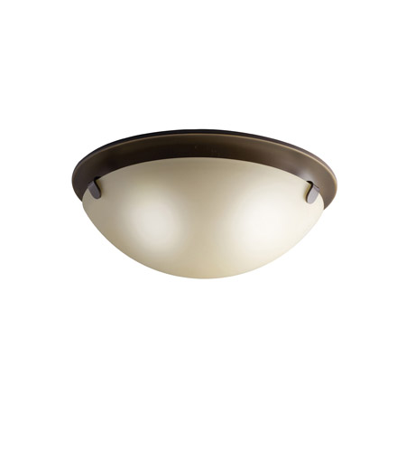 Kichler 7003OZ Signature 2 Light 13 inch Olde Bronze Flush Mount Ceiling Light photo
