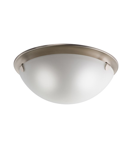 Kichler Lighting Signature 3 Light Flush Mount in Brushed Nickel 7004NI