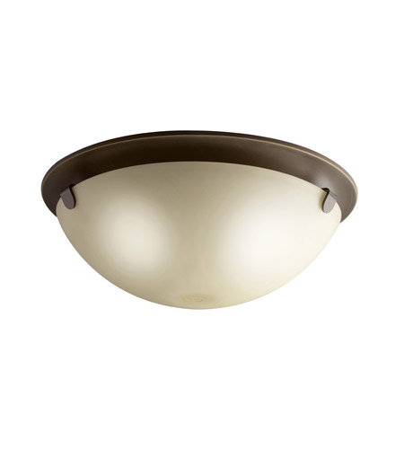 Kichler Lighting Signature 3 Light Flush Mount in Olde Bronze 7004OZ