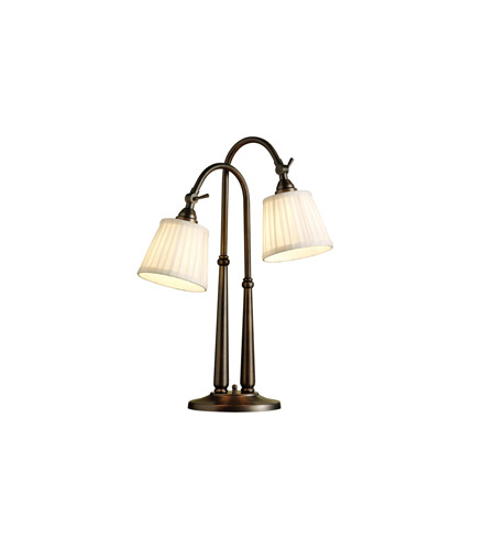 Kichler Lighting Blaine 2 Light Desk Lamp in Burnished Bronze 70228BBZCA