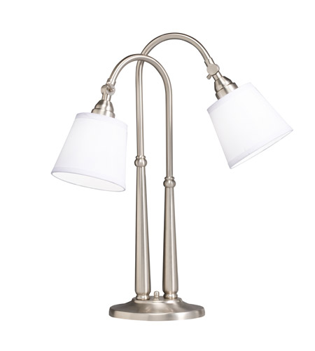 Kichler Lighting Westwood Blaine 2 Light Table Lamp in Brushed Nickel 70228NIW photo